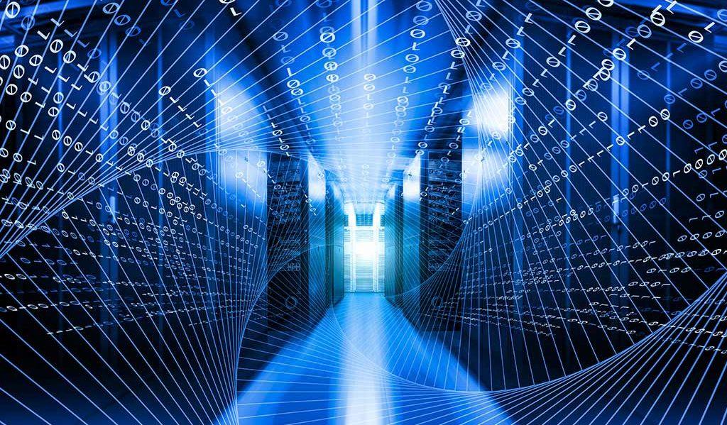 Rechenzentrum Server Netzwerk Glasfaser Kupferkabel Verkabelung